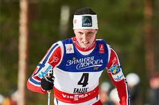 Kari Vikhagen Gjeitnes underveis i VM-sprinten i Falun 2015, hvor hun sikret 5. plass i finalen. Foto: NordicFocus.