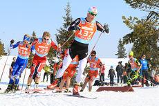 Fra femmila i NM del 2 på Gålå i 2014, med Rolf Einar Jensen i front. Foto: Erik Borg.