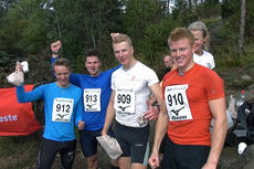 Fra venstre: Fredrik O. Andersen, Fredrik Grøvdal, Anders Mølmen Høst og Joar Thele. Henholdsvis 3., 6., 2. og 1. best i Oslos Råeste 2014. Arrangørfoto.
