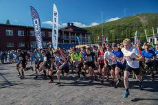 Starten går i Dundret Extreme Running. Foto: Yngve Johansson / Imega Promotion.