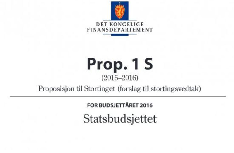 Statsbudsjettet 2016