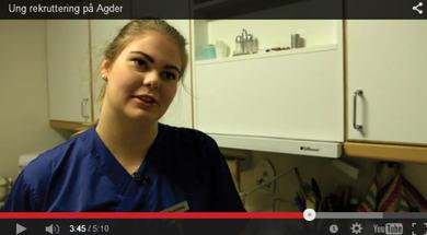 """Skjermbilde fra filmen """"Ung rekruttering på Agder"""""""