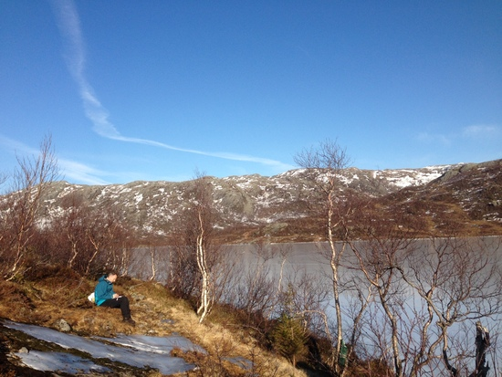 Tur til Kvannlivann, mars 2014