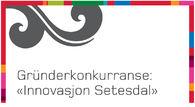 """Illustrasjon med tekst """"Gründerkonkurranse """"Innovasjon Setesdal"""""""""""