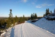 Natursnøløyper på Hafjell fredag 13. november. Foto: Mosetertoppen.