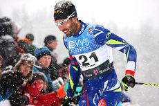 Martin Fourcade på vei mot 12. plass i fristilsrennet under Beitosprinten 2015. Foto: Geir Nilsen/Langrenn.com.