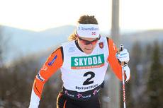 Maiken Caspersen Falla var beste dame i sprintprologen på Beitostølen. Foto: Erik Borg.