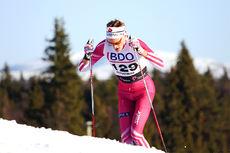 Daniel Myrmæl Helgestad ute på 15 kilometer klassisk. Han ble til slutt diskvalifisert for brudd på klassiskteknikken. Foto: Geir Nilsen/Langrenn.com.