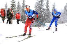 Herman Martens Meyer leverte gode resultater i nasjonal åpning på Beitostølen. Her i frilstirennet der han ble nummer 30. Dagen før ble det 28.-plass i klassisk. Foto: Erik Borg.
