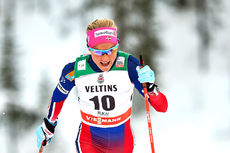 Therese Johaug underveis i sprintprologen i Kuusamo og Ruka 2015. Foto: Felgenhauer/NordicFocus.
