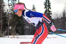 Maria Strøm Nakstad på 7,5 kilometer klassisk under Beitosprinten. Hun ble nummer 22 i rennet. Foto: Erik Borg.