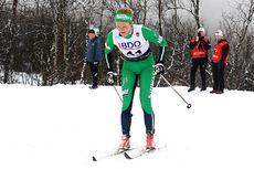 Tuva Toftdahl Staver i Beitosprintens klassiske distanserenn, der hun staket hele veien og endte som nummer 24. Foto: Erik Borg.