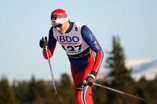 Emil Iversen under den nasjonale sesongåpningen på Beitostølen. Foto: Geir Nilsen/Langrenn.com.