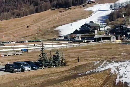Slik ser det ut i Livigno et par dager før Ski Classics drar i gang. Foto: Team LeasePlan Go (@teamleaseplango på Instagram).
