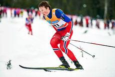 Emil Iversen underveis i skiathlon-rennet under verdenscupen på Lillehammer i november som endte med en sterke sjuendeplass for trønderens del. Foto: Modica/NordicFocus.