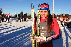 Kristine Stavås Skistad i forbindelse med Gålåsprinten 2015. Foto: NTG Lillehammer.