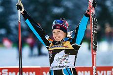 Ingvild Flugstad Østberg vant jaktstarten på 3. etappe i Lenzerheide og leder Tour de Ski 2016 totalt. Foto: Felgenhauer/NordicFocus.