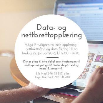 Data- og nettbrettopplæring
