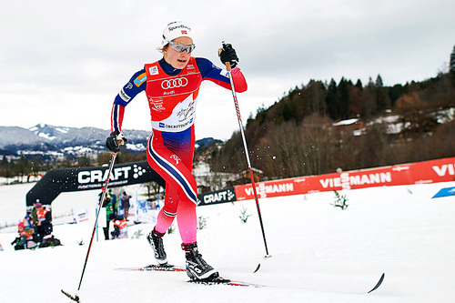 Ingvild Flugstad Østberg toppet sprintprologen under fjerde etappe av Tour de Ski 2016 i Oberstdorf. Foto: Felgenhauer/NordicFocus.