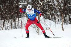 Sindre Bjørnestad Skar på vei mot beste tid på sprintprologen i fri teknikk under NM i Tromsø 2016. Foto: Erik Borg.