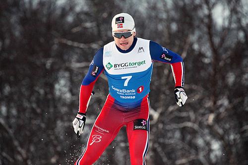 Håvard Solås Taugbøl tok sin første individuelle NM-medalje med bronsen på sprinten i Tromsø 2016. Her fra prologen. Foto: Erik Borg.