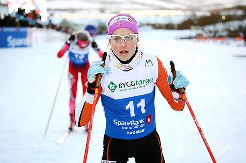 Therese Johaug under NM-sprinten i Tromsø 2016. Hun ble nummer 5. Foto: Erik Borg.