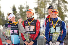 Buskeruds lag med Åsne Skrede, Andreas Kirkeng, Ragnhild Rønning og Filip Fjeld Andersen vant Ungdomsstafetten 2015 i Holmenkollen.