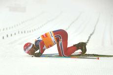 Martin Johnsrud Sundby etter sin klare seier på 5-mila i Holmenkollen 2016. Foto: Felgenhauer/NordicFocus.