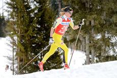 Astrid Øyre Slind på vei mot 2. plass i Kaiser Maximilian Lauf og Ski Classics renn nr. 6 i 2015/2016-sesongen. Foto: Rauschendorfer/NordicFocus.