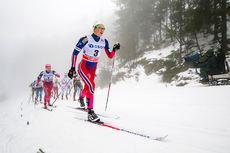 Ingvild Flugstad Østberg på vei mot 2. plass under 3-mila i Holmenkollen 2016. Foto: Laiho/NordicFocus.