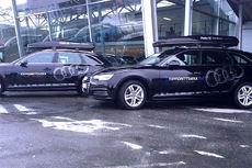 Audi-biler til Toppidrettsveka. Foto: Møller Bil Trondheim AS.