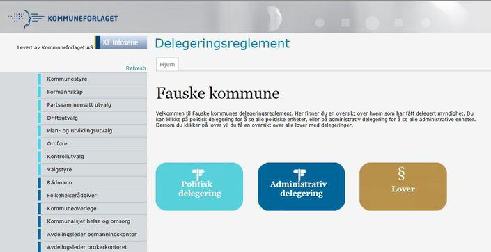 Delegeringsreglement foto forside