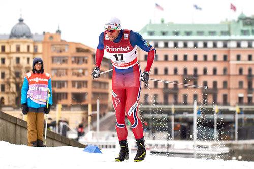Petter Northug ute i prologen under verdenscupsprinten i Stockholm 2016. Foto: Felgenhauer/NordicFocus.
