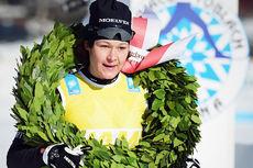 Britta Johansson Norgren tok seieren på Toblach-Cortina i Ski Classics 2016. Foto: Magnus Östh/Visma Ski Classics.