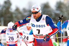 Petter Northug underveis på fellesstarten i Falun 2016, der han ble nummer 10. Foto: Felgenhauer/NordicFocus.