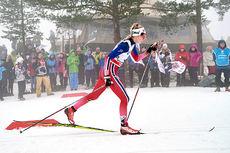 Lovise Heimdal underveis på tremila i Holmenkollen 2016. Foto: Felgenhauer/NordicFocus.