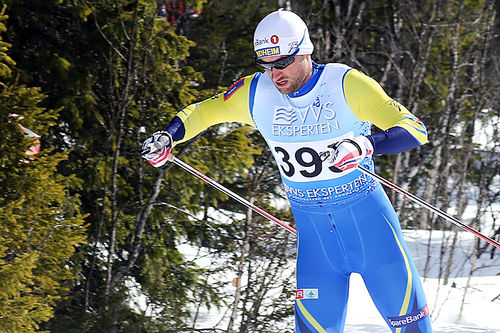 Petter Northug ute på 10-kilometeren under NM på Beitostølen 2016. Det endte med 17.-plass. Foto: Erik Borg.