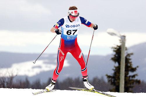 Kari Øyre Slind på vei mot fjerdeplass på 3-mila under NM på Beitostølen 2016. Foto: Erik Borg.
