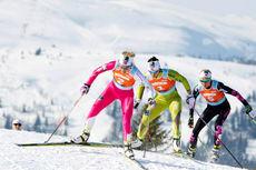 Illustrasjonsbilde til Tre topper på Gålå med Therese Johaug, Marit Bjørgen og Kristin Størmer Steira. Arrangørfoto.