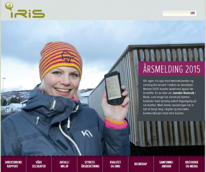 Iris årsmelding 2015