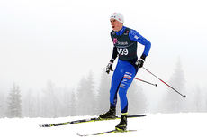 Håvard Moseby under Junior-NM på Gåsbu 2016. Foto: Erik Borg.