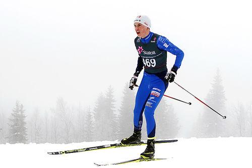 Håvard Moseby under Junior-NM på Gåsbu 2016. Foto: Erik Borg.