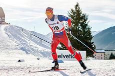 Chris Jespersen på vei mot 8. plass på 30-kilometeren under verdenscupen i Davos 2015. Foto: Felgenhauer/NordicFocus.