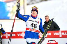 Anders Gløersen etter tredjeplassen på 30 km fri under verdenscupen i Davos 2015. Foto: Felgenhauer/NordicFocus.