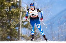 Krista Pärmäkoski på vei mot tredjeplass på 7. etappe av Ski Tour Canada, 10-kilometeren med intervallstart i Canmore. Foto: Felgenhauer/NordicFocus.