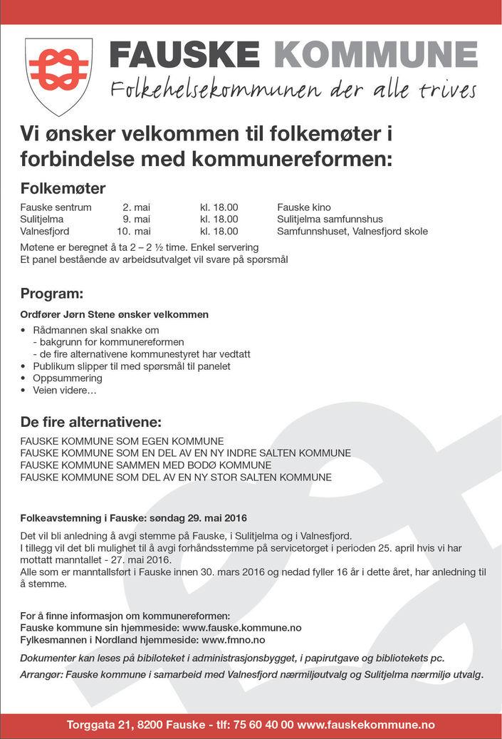 kommunereform valg og folkemøter annonse