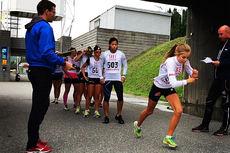 Elevene ved NTG Lillehammer går gjennom mange ulike tester gjennom skoleåret. Her fra NTG-testen som er en motbakkeløpstest på ca. 2 km. Foto: NTG Lillehammer.
