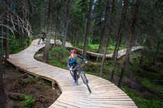 Sykling i Sherwood-skogen på Trysil. Foto: Jonas Hasselgren/Utefoto.