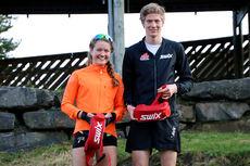 De to vinnerne av Vårcup Lillehammer 2016, Jo Nørstegård og Tuva Bakkemo. Foto: Anders B. Hennum.