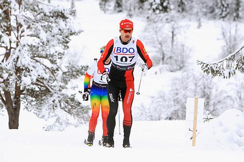 Andreas Nygaard under Beitosprintens 15 km klassisk en tidligere vinter. Foto: Erik Borg.
